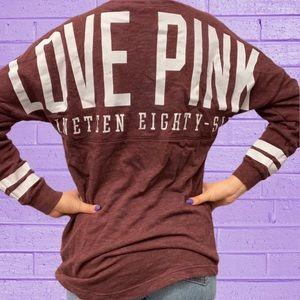 VS PINK Campus Crew Logo Boyfriend Sweatshirt